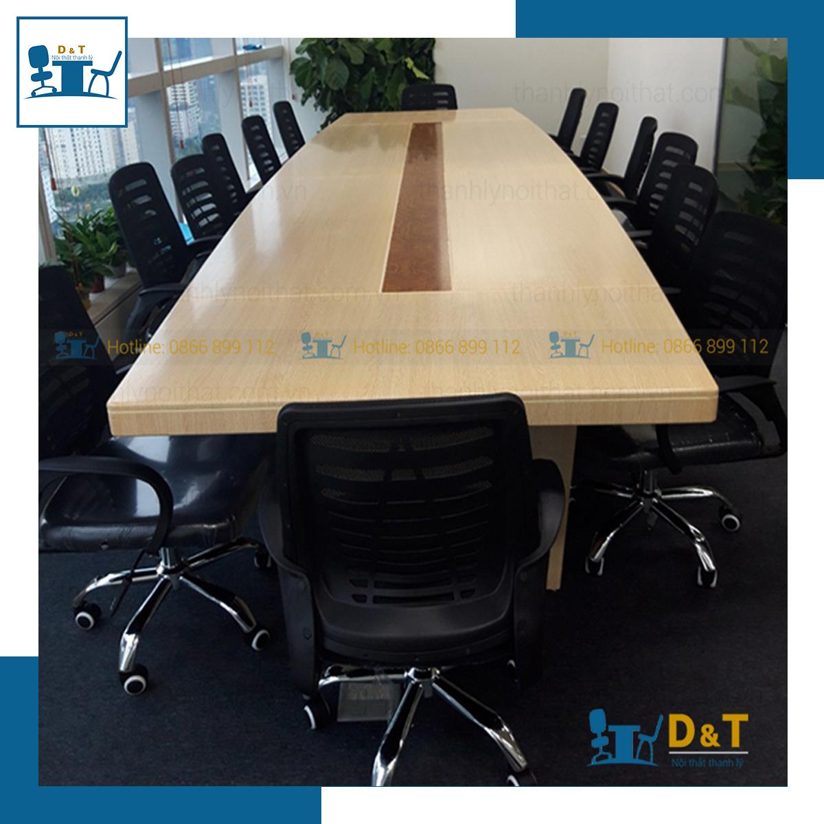 Thiết kế bàn họp gỗ sơn PU